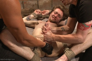 Teenage gay gets tied up and used by two - XXX Dessert - Picture 17
