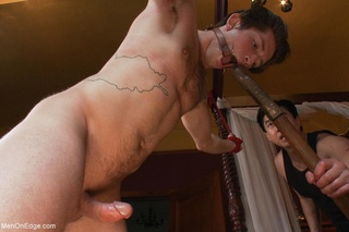 gorgeous gay dude tied