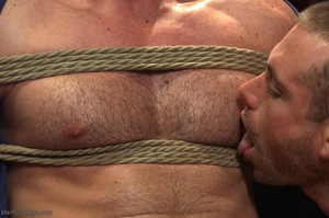 Blindfolded dude with a  muscled body ge - XXX Dessert - Picture 2