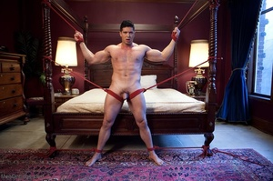 Blindfolded dude with a  muscled body ge - XXX Dessert - Picture 17