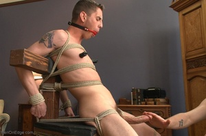 Young gay dude gets tied up and stimulat - XXX Dessert - Picture 8