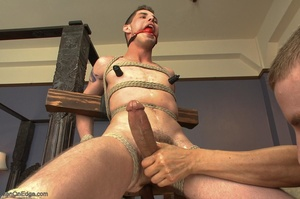 Young gay dude gets tied up and stimulat - XXX Dessert - Picture 11