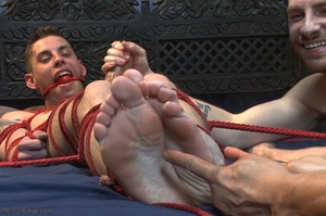 Young gay dude gets tied up and stimulat - XXX Dessert - Picture 15