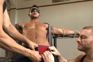 Tied up dude gets drilled and sucked off - XXX Dessert - Picture 1