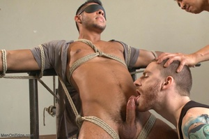 Tied up dude gets drilled and sucked off - XXX Dessert - Picture 5
