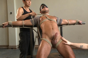 Tied up dude gets drilled and sucked off - XXX Dessert - Picture 6