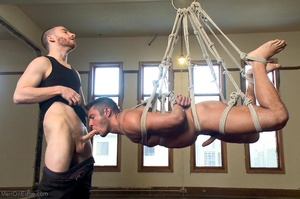 Tied up dude gets drilled and sucked off - XXX Dessert - Picture 8
