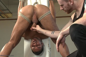 Tied up dude gets drilled and sucked off - XXX Dessert - Picture 12