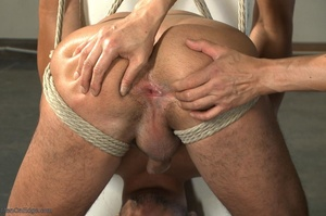 Tied up dude gets drilled and sucked off - XXX Dessert - Picture 13
