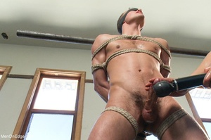 Young stud with a perfect body gets tied - XXX Dessert - Picture 4