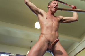 Young stud with a perfect body gets tied - XXX Dessert - Picture 8