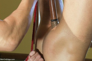 Young stud with a perfect body gets tied - XXX Dessert - Picture 9