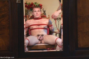 Young stud with a perfect body gets tied - XXX Dessert - Picture 12