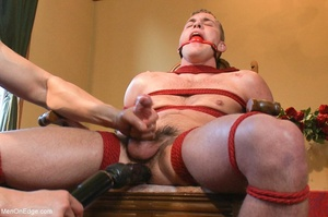 Young stud with a perfect body gets tied - XXX Dessert - Picture 14