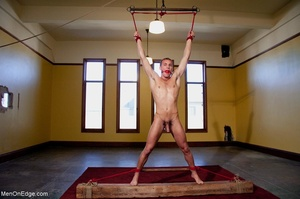 Young stud with a perfect body gets tied - XXX Dessert - Picture 17