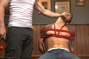 Handsome dude gets tied up and used by a - XXX Dessert - Picture 4