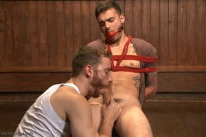 Handsome dude gets tied up and used by a - XXX Dessert - Picture 7