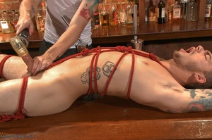 Handsome dude gets tied up and used by a - XXX Dessert - Picture 13