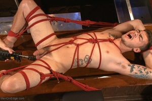 Handsome dude gets tied up and used by a - XXX Dessert - Picture 18