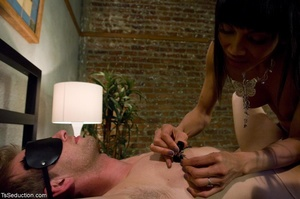 Preppy guy is blindfolded, and his nips  - XXX Dessert - Picture 10