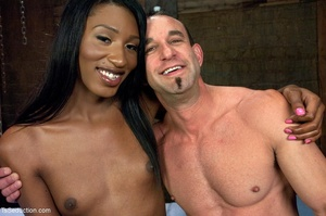 Ebony goddess in fishnets gets busy with - XXX Dessert - Picture 17