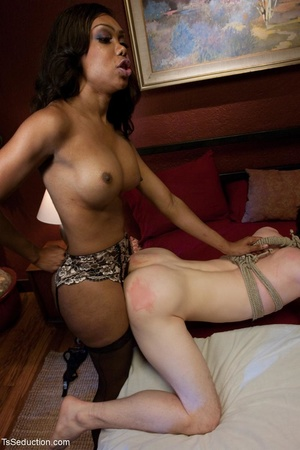 Ebony Mistress with a dick plays rough w - XXX Dessert - Picture 12