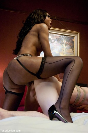 Ebony Mistress with a dick plays rough w - XXX Dessert - Picture 17