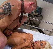 Aggressive tranny patient gets what she really needs from a hot male nurse