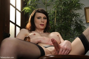 Tranny teacher does things with a male s - XXX Dessert - Picture 4