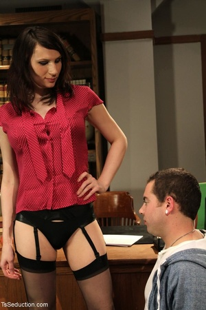 Tranny teacher does things with a male s - XXX Dessert - Picture 7