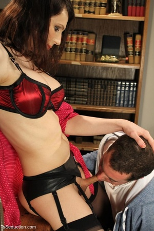 Tranny teacher does things with a male s - XXX Dessert - Picture 9