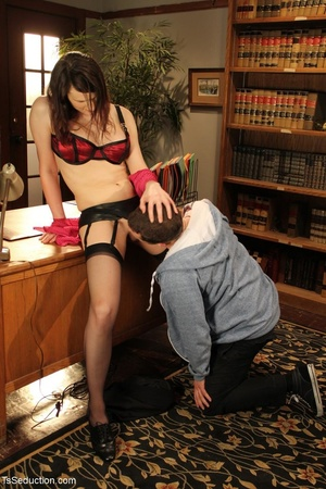 Tranny teacher does things with a male s - XXX Dessert - Picture 10