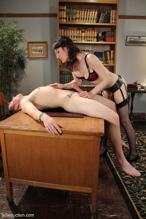 Tranny teacher does things with a male s - XXX Dessert - Picture 12