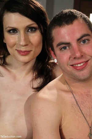 Tranny teacher does things with a male s - XXX Dessert - Picture 17