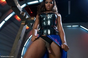 Bold black bombshell uses her dick to te - XXX Dessert - Picture 6
