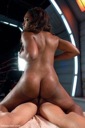 Bold black bombshell uses her dick to te - XXX Dessert - Picture 11