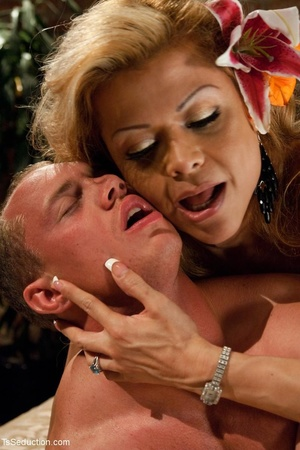 Hot, mature ladyboy binds her young love - XXX Dessert - Picture 13