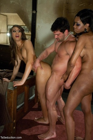 Two alluring transexual bitches fill a g - XXX Dessert - Picture 15