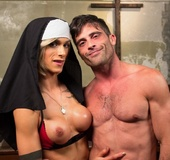 Sexually curious male church volunteer finds out a sexy nun has a habit