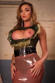 ladyboy's latex skirt comes