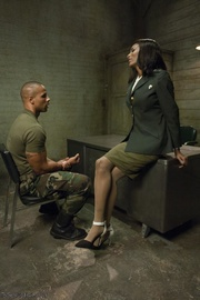muscular military maven with