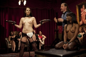 Stunning ebony servant is choked and fuc - XXX Dessert - Picture 2