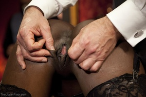 Stunning ebony servant is choked and fuc - XXX Dessert - Picture 4