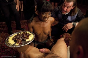 Stunning ebony servant is choked and fuc - XXX Dessert - Picture 9