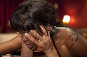 Stunning ebony servant is choked and fuc - XXX Dessert - Picture 15