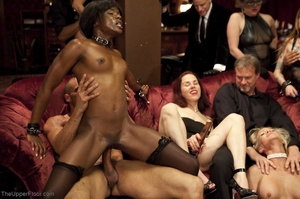 Stunning ebony servant is choked and fuc - XXX Dessert - Picture 16