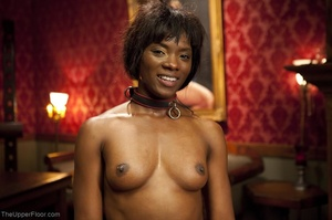 Stunning ebony servant is choked and fuc - XXX Dessert - Picture 18