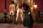 elegant mistress spanks curvy
