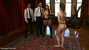 One lady sub holds a vibrator against th - XXX Dessert - Picture 6