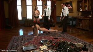 One lady sub holds a vibrator against th - XXX Dessert - Picture 8